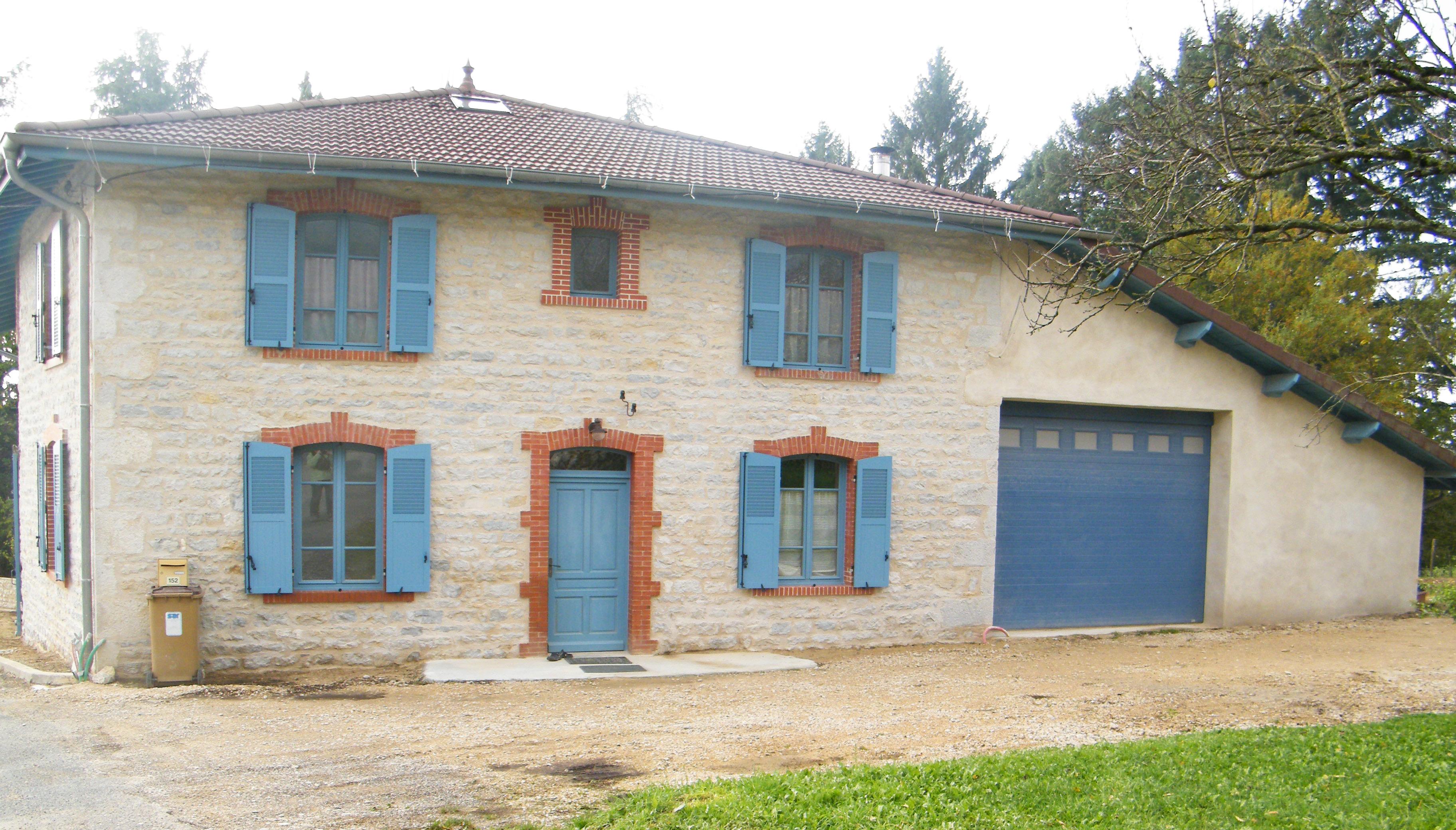 Joints de pierre en façades - 01370 PRESSIAT VAL-REVERMONT