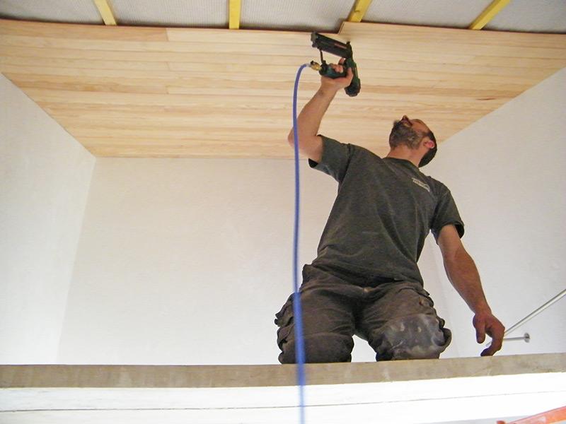 Isolation toiture - finition lambris
